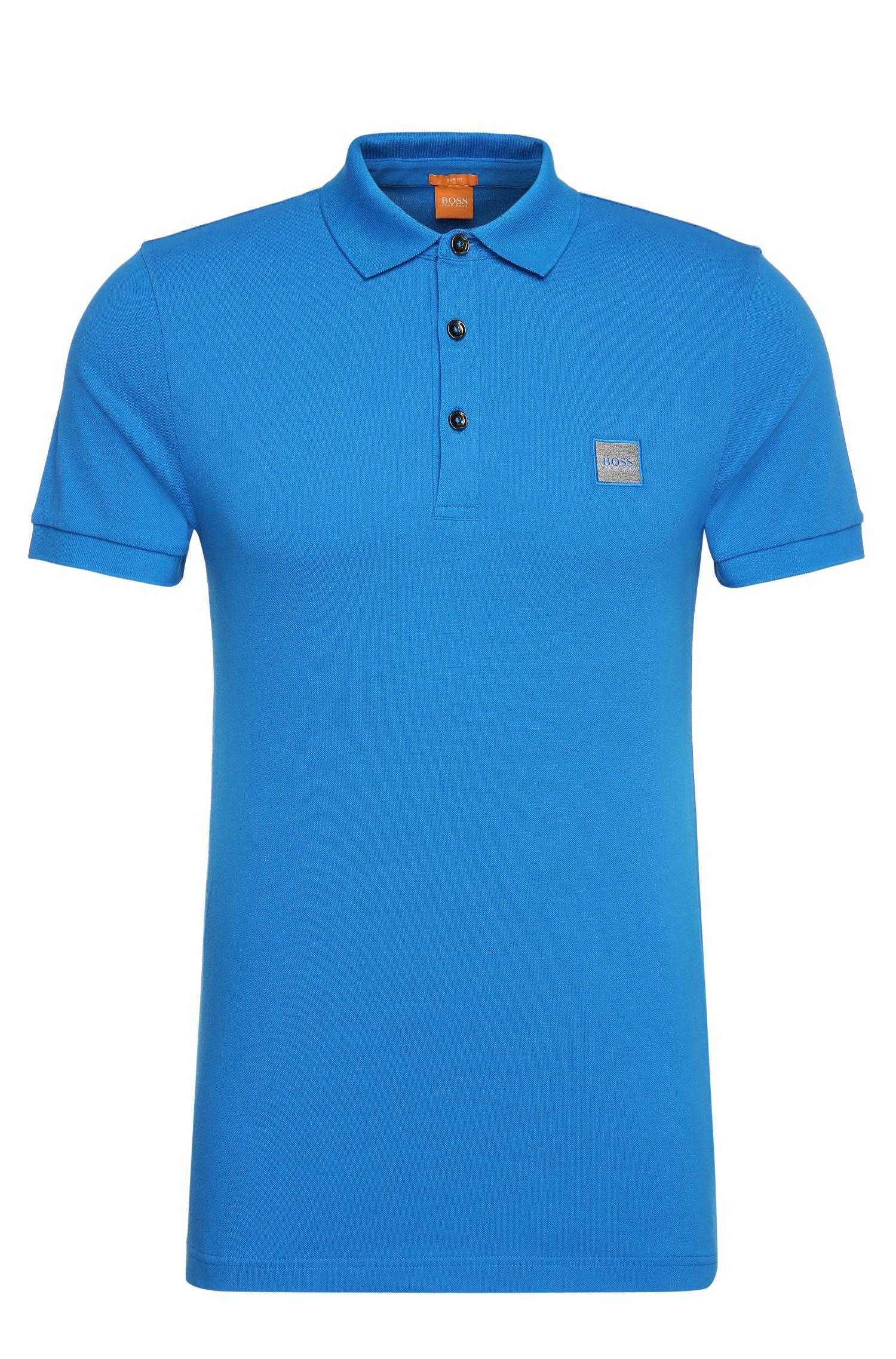 Slim-Fit Poloshirt aus elastischem Piqué