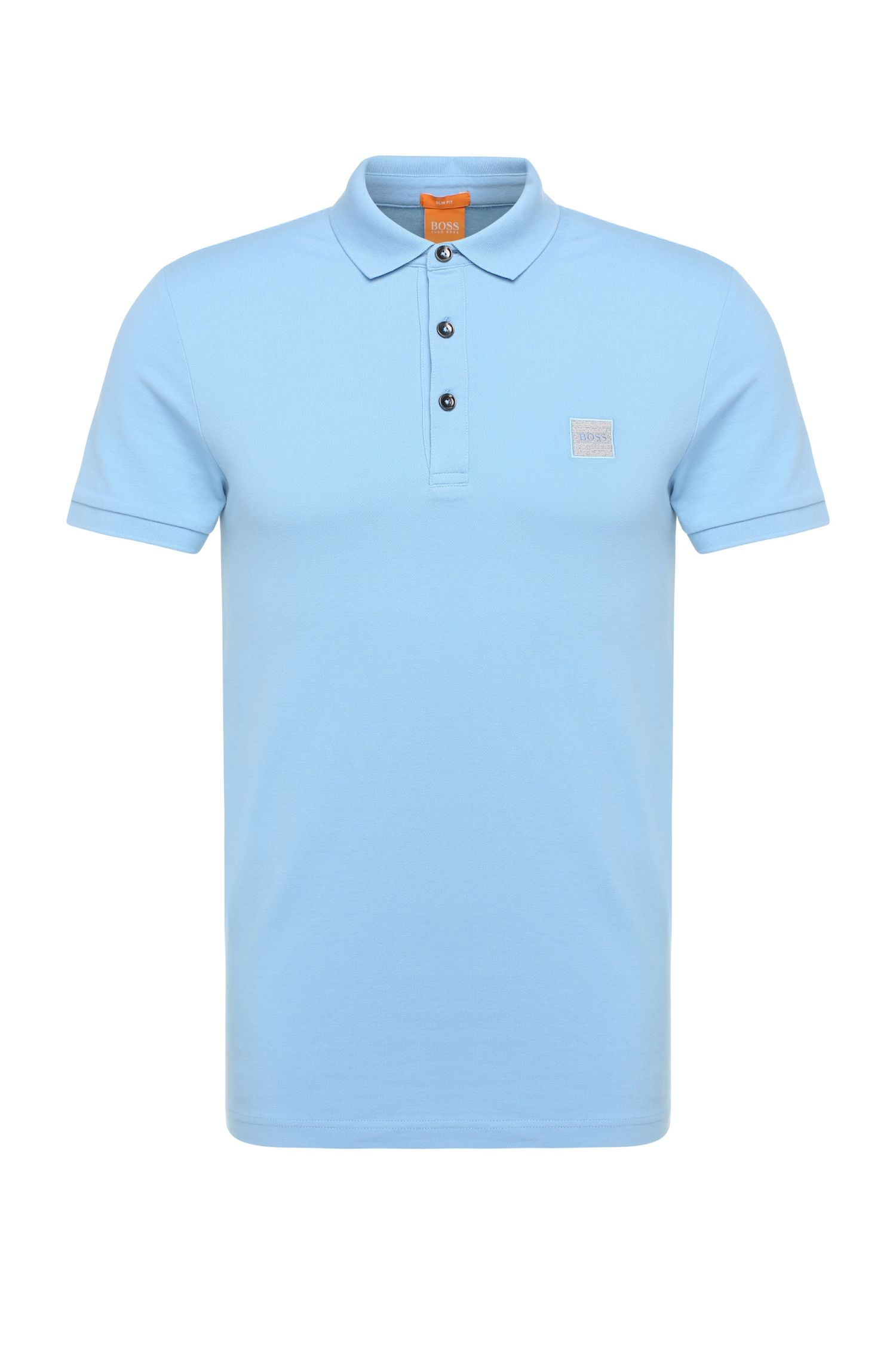Slim-fit polo shirt in stretch cotton: 'Pavlik'