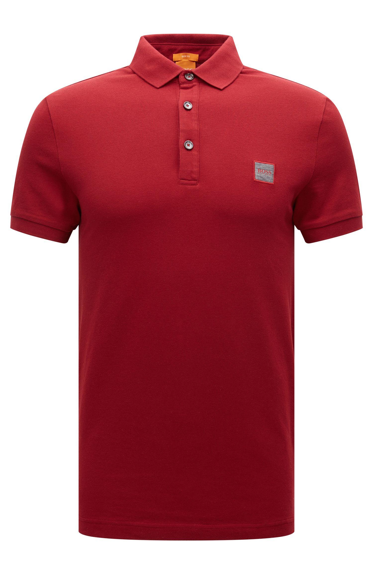 Slim-fit polo shirt in stretch piqué