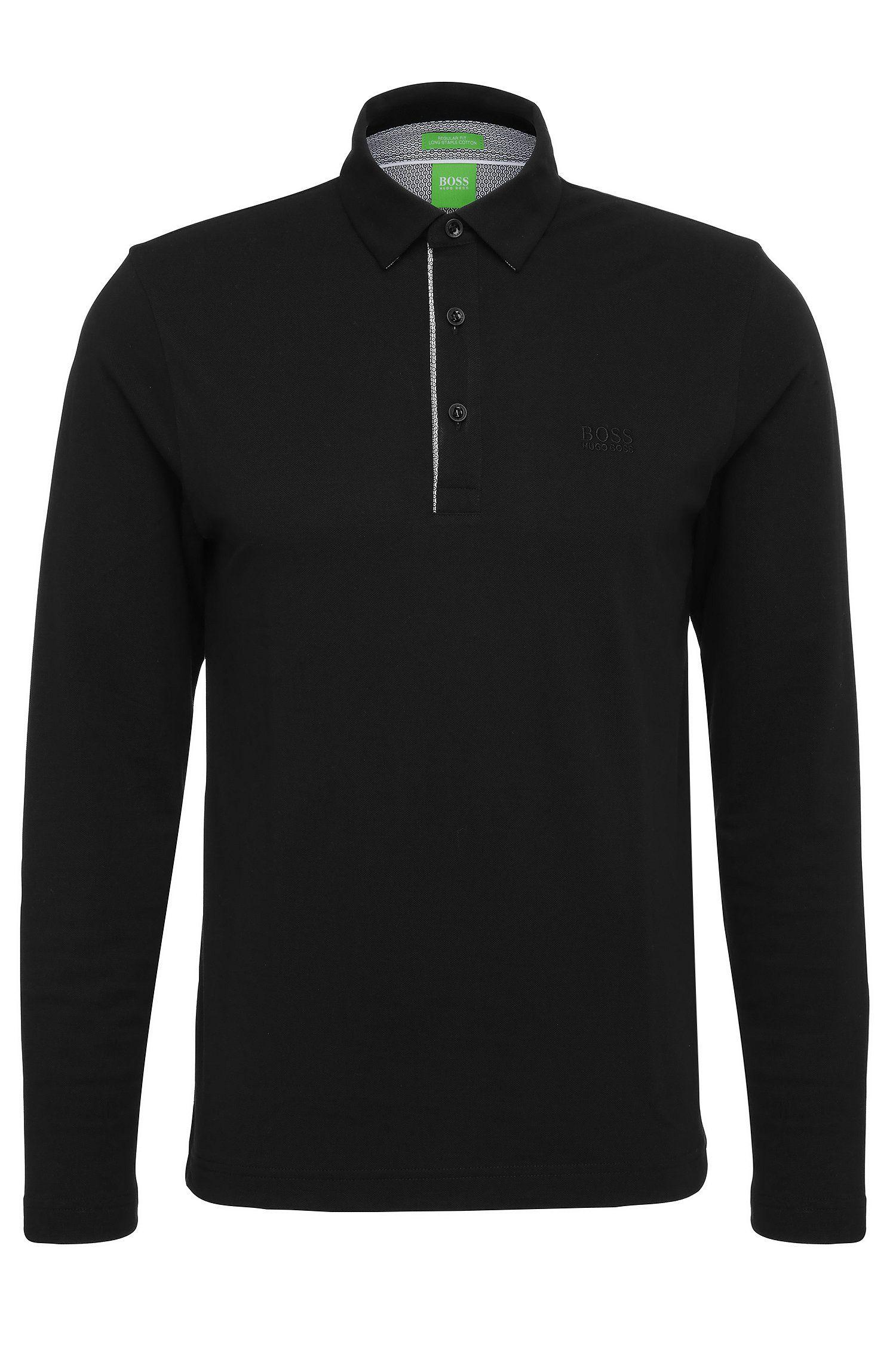 Regular-Fit Langarm-Polo aus Baumwolle: ´C-Tivoli 1`