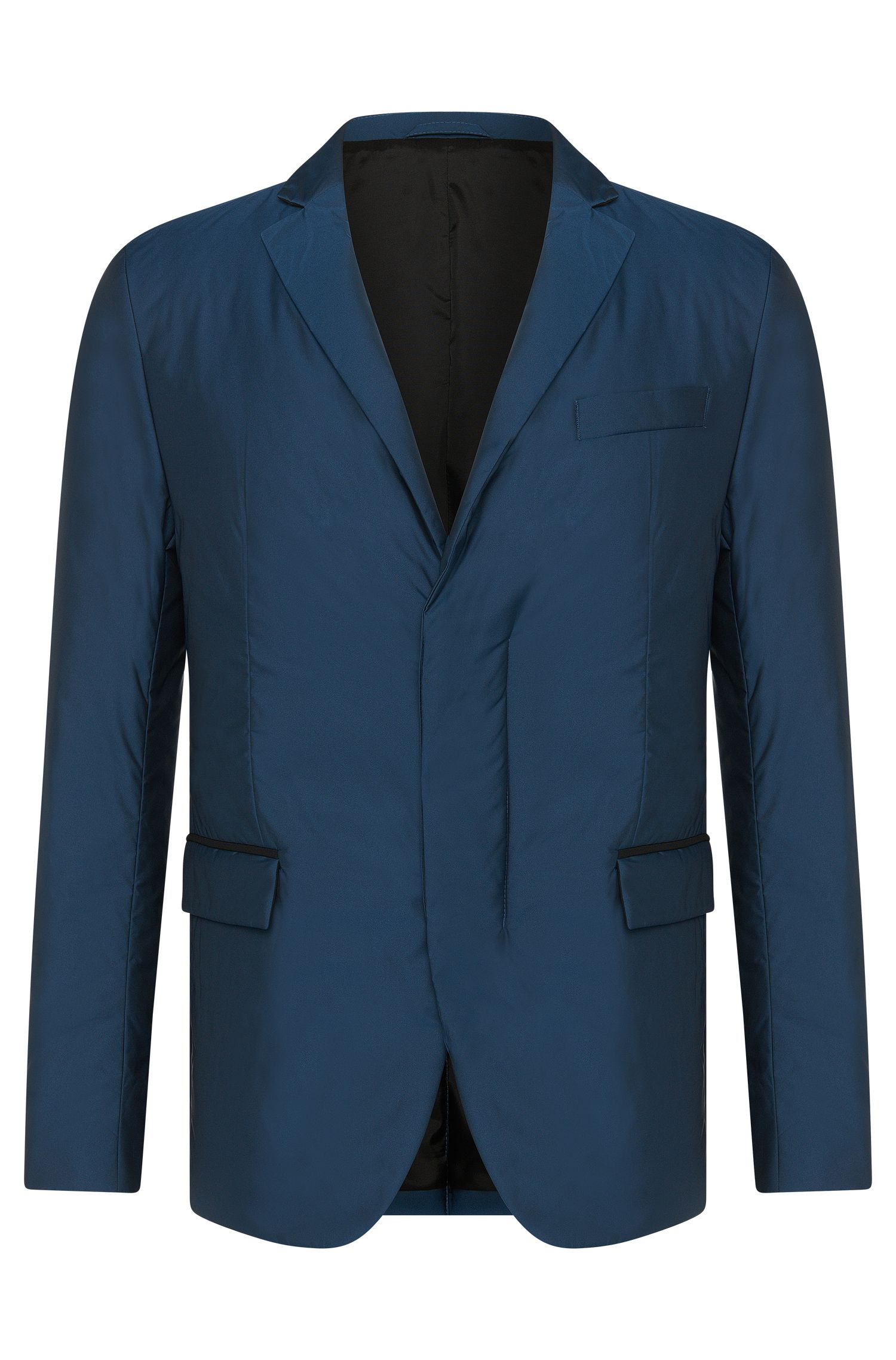 Padded slim-fit jacket with a lapel collar and flap pockets: 'Nevill'