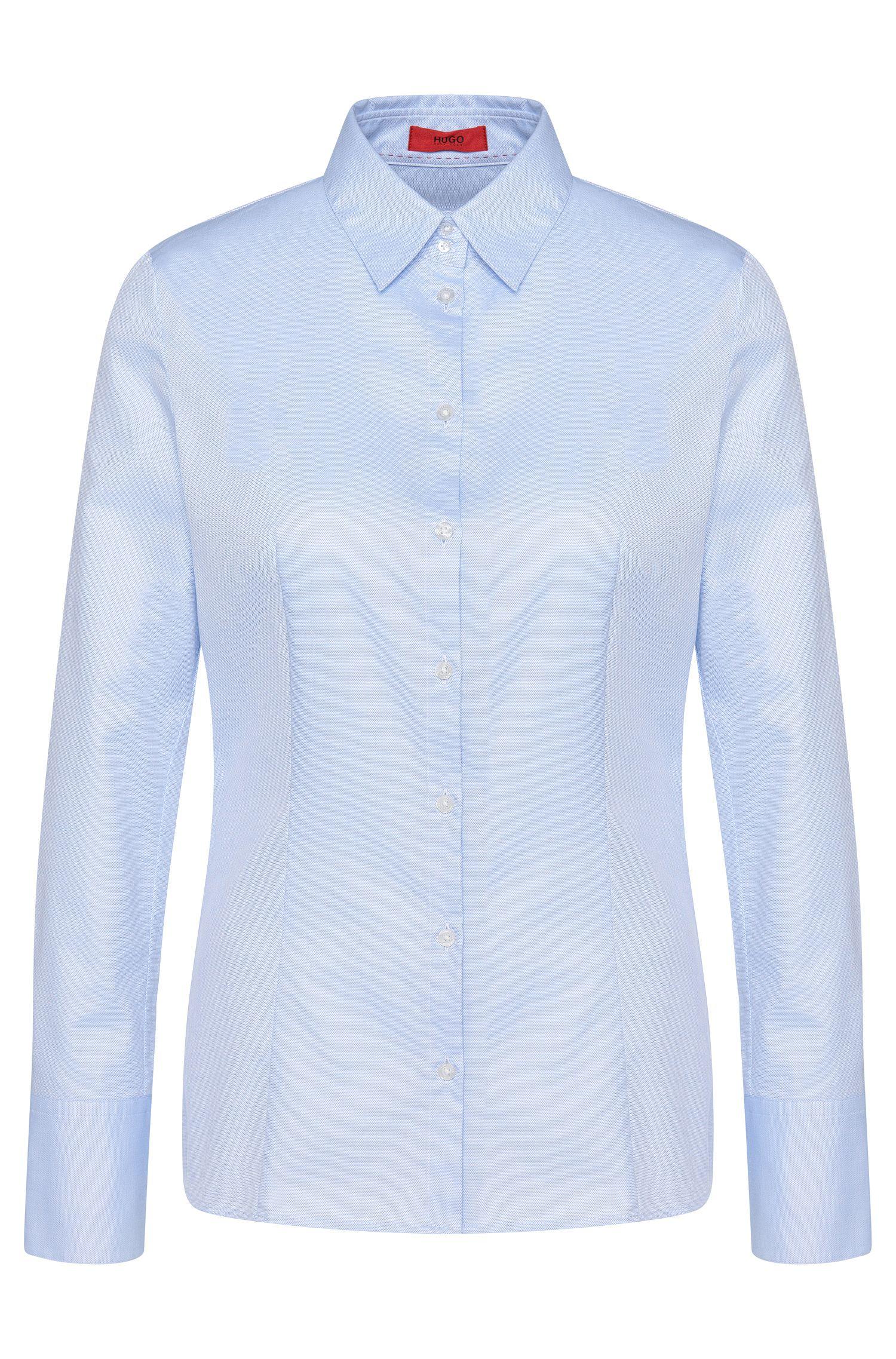 Leicht taillierte Hemdbluse aus reiner Baumwolle: 'Etrixe1'