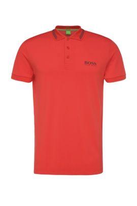 Polo slim fit in misto cotone elasticizzato: 'Paule Pro', Rosso chiaro