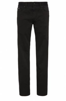 Jeans Regular Fit en denim stretch confortable, Noir