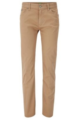 Regular-fit jeans van comfortabele stretchdenim, Beige