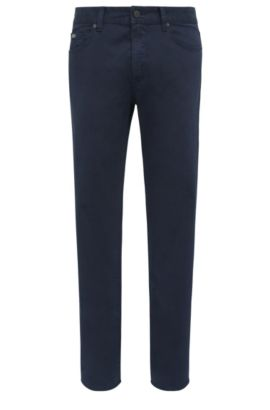 Jeans Regular Fit en denim stretch confortable, Bleu foncé