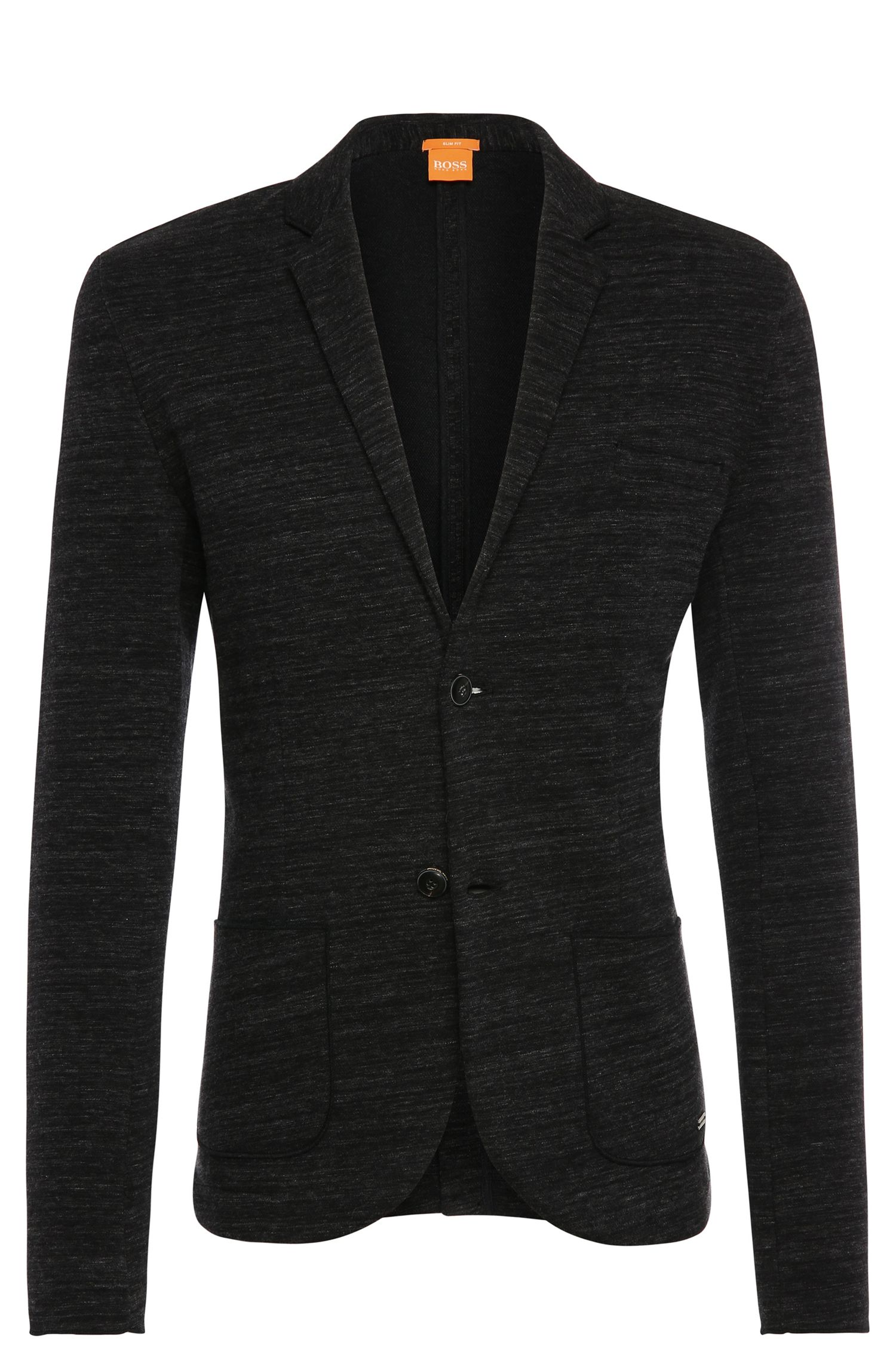 Giacca slim fit mélange in cotone: 'Wellford'
