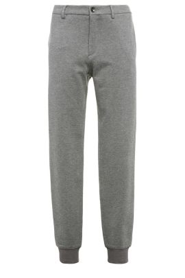Mottled slim-fit jersey trousers in stretchy viscose blend: 'Lukes 7-W', Anthracite