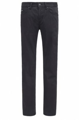 Slim-fit jeans in comfort-stretch denim, Black