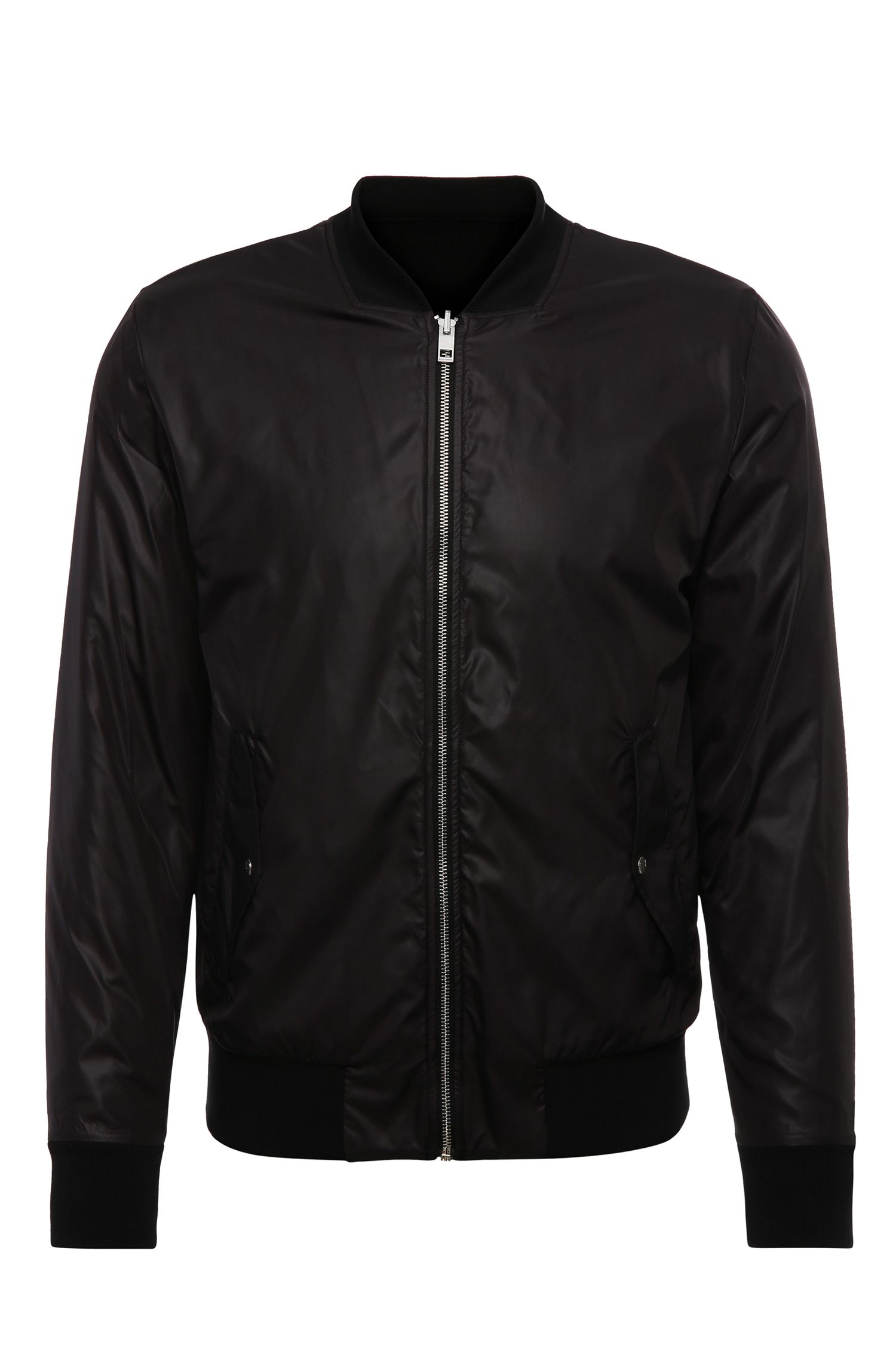 Bomber jacket in smooth material: 'Ztreets'