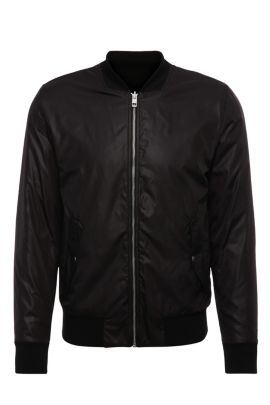 Bomber jacket in smooth material: 'Ztreets', Black