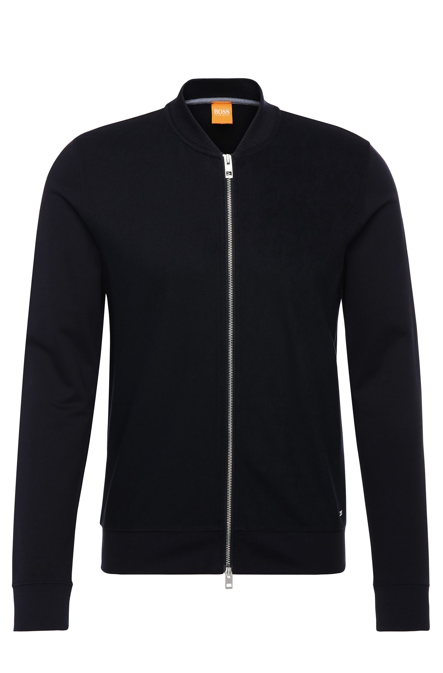 Blouson sweat Regular Fit en coton mélangé : « Ztripe »