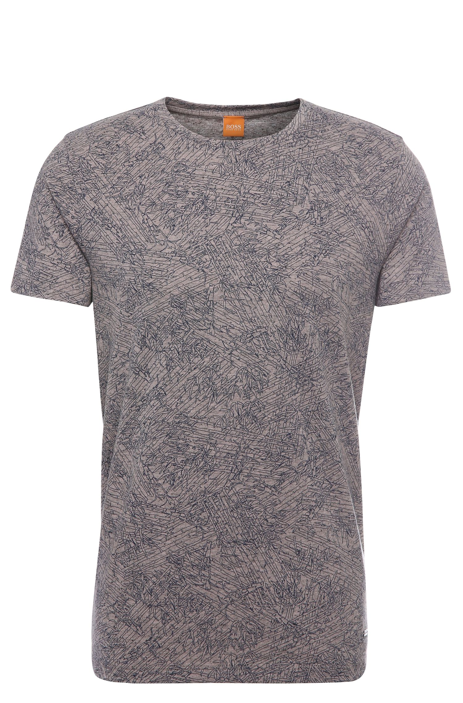 Patterned relaxed-fit t-shirt in fabric blend with cotton and modal: 'Tauryon'