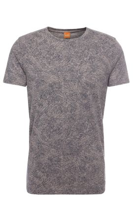 Patterned relaxed-fit t-shirt in fabric blend with cotton and modal: 'Tauryon', light pink
