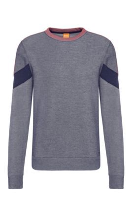 Relaxed-Fit Sweatshirt aus Baumwoll-Mix: ´Writer`, Dunkelblau