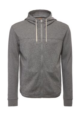 Blouson sweat Regular Fit en coton mélangé : « Zports », Gris chiné