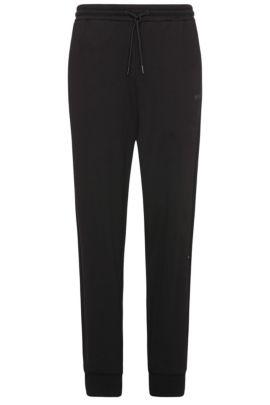 Pantalon en coton molletonné Relaxed Fit: «Hivon», Noir