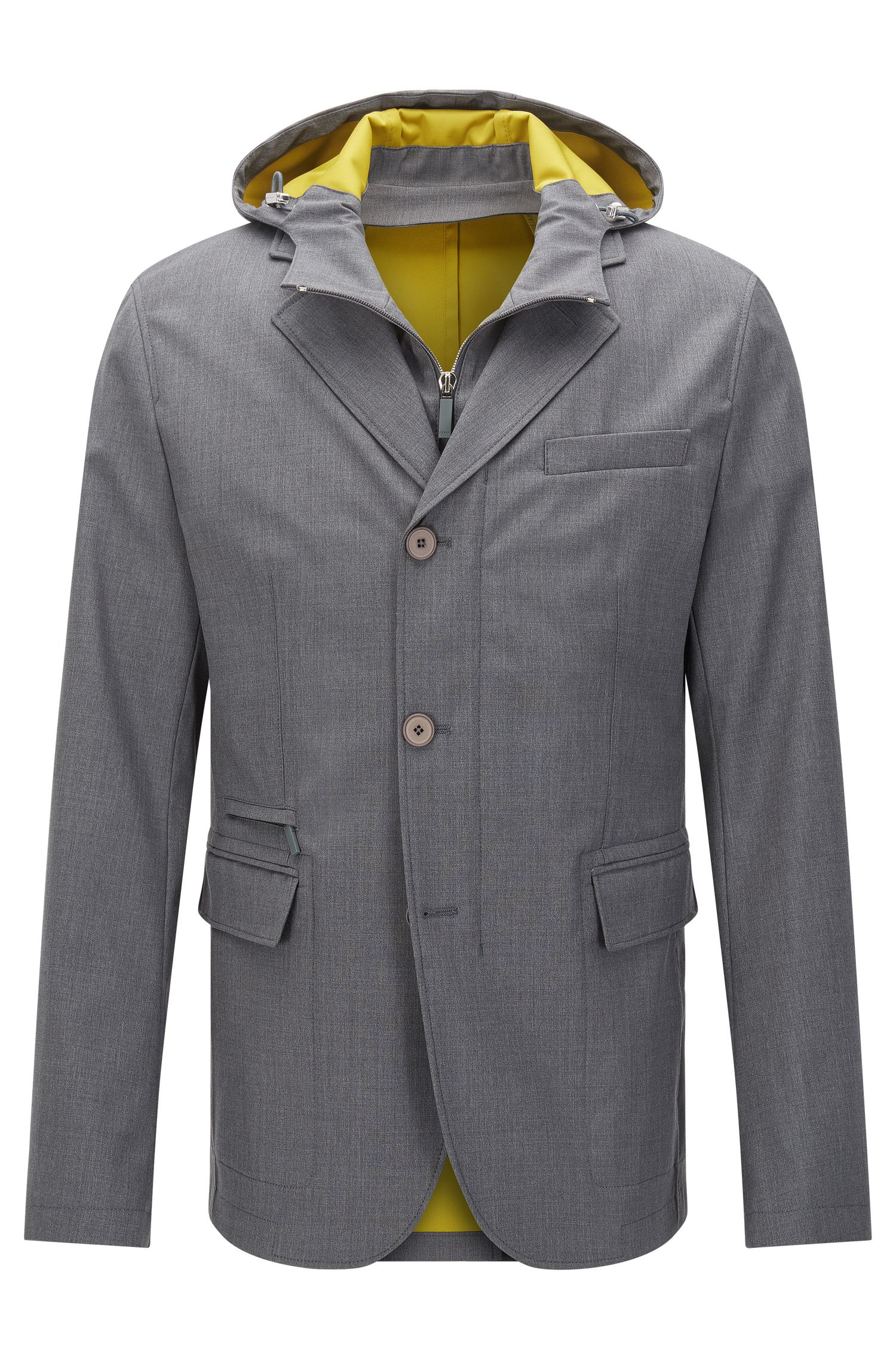 Water-repellent Tailored jacket in new wool blend in the style of a tailored jacket: 'T-Nuka'
