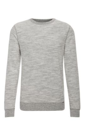 Felpa relaxed fit in misto cotone: 'Woice', Naturale