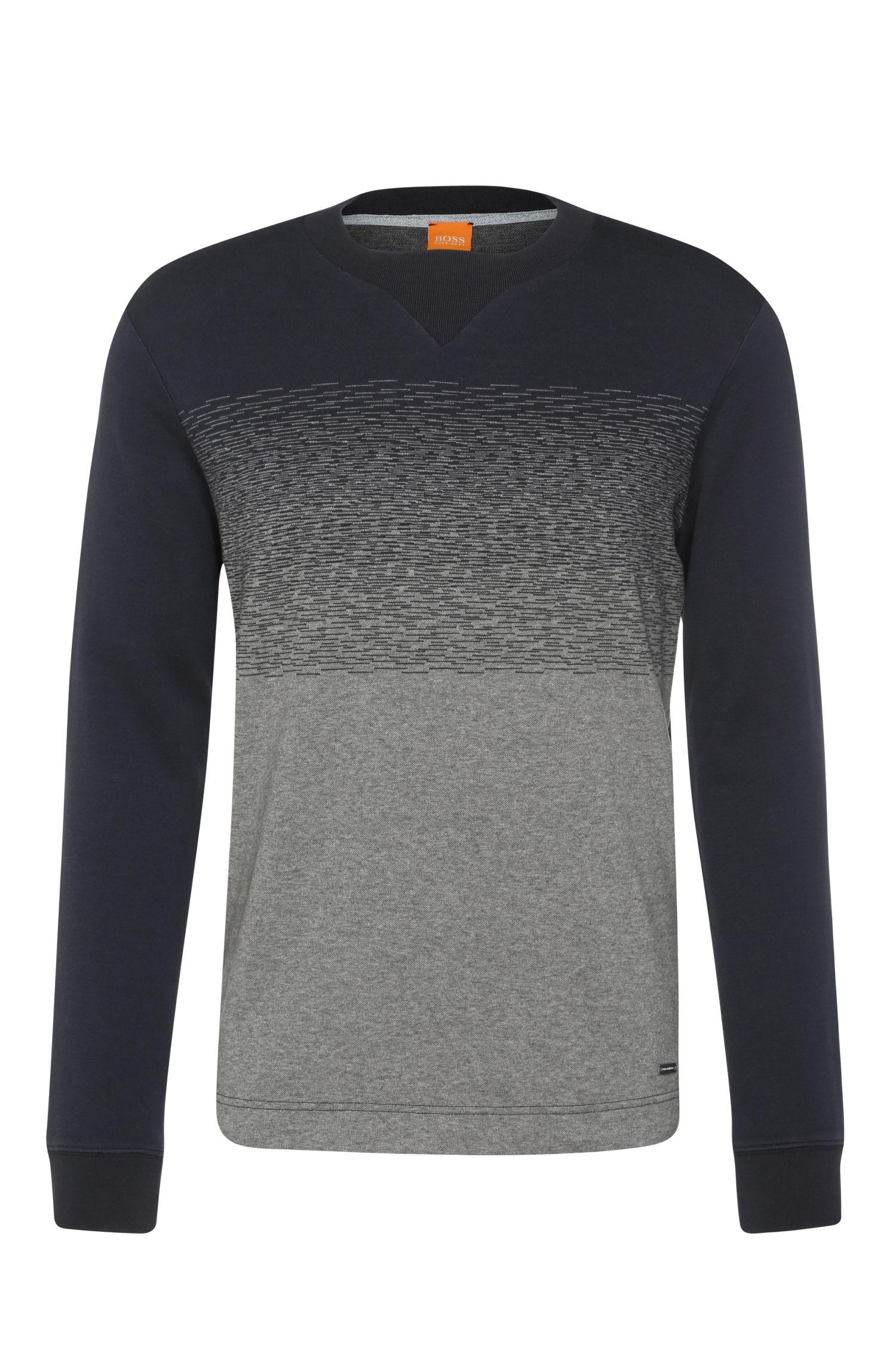 Sweatshirt van katoen met V-vormig inzetstuk: 'Wice'