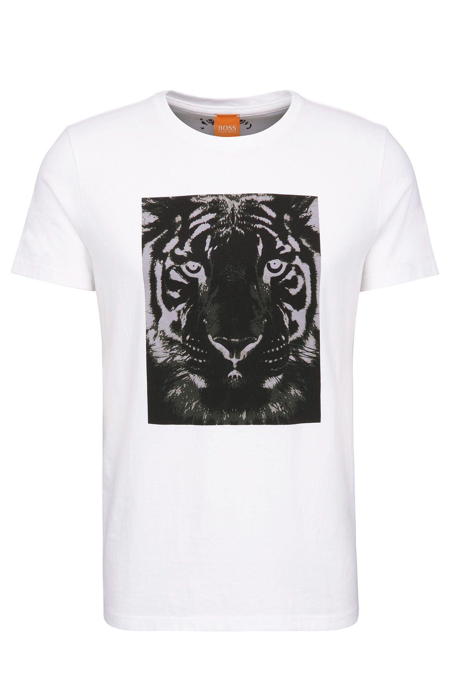 T-shirt Relaxed Fit en coton à imprimé tigre: «Tullian 2»
