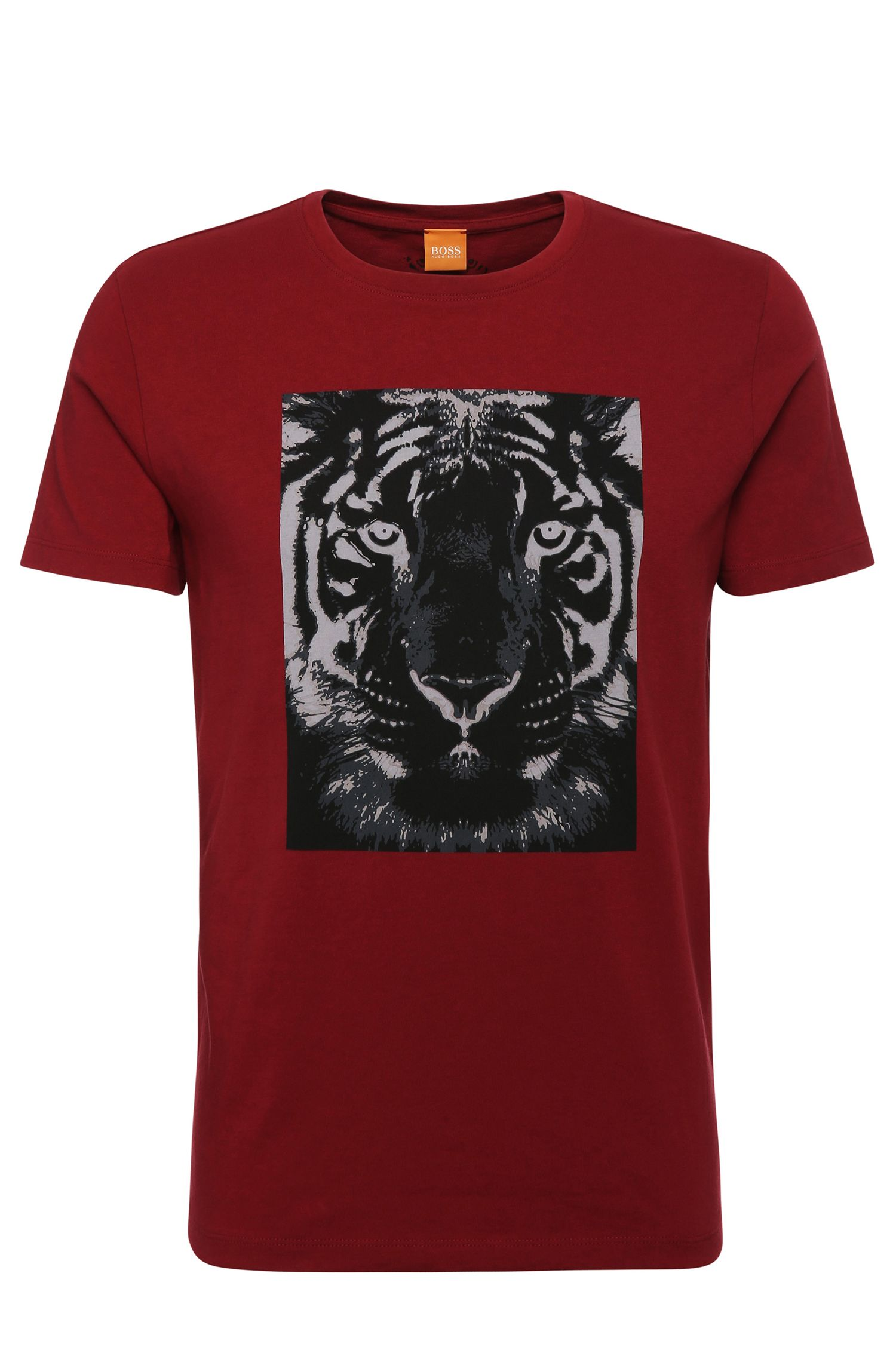 Camiseta relaxed fit en algodón con estampado de tigre: 'Tullian 2'