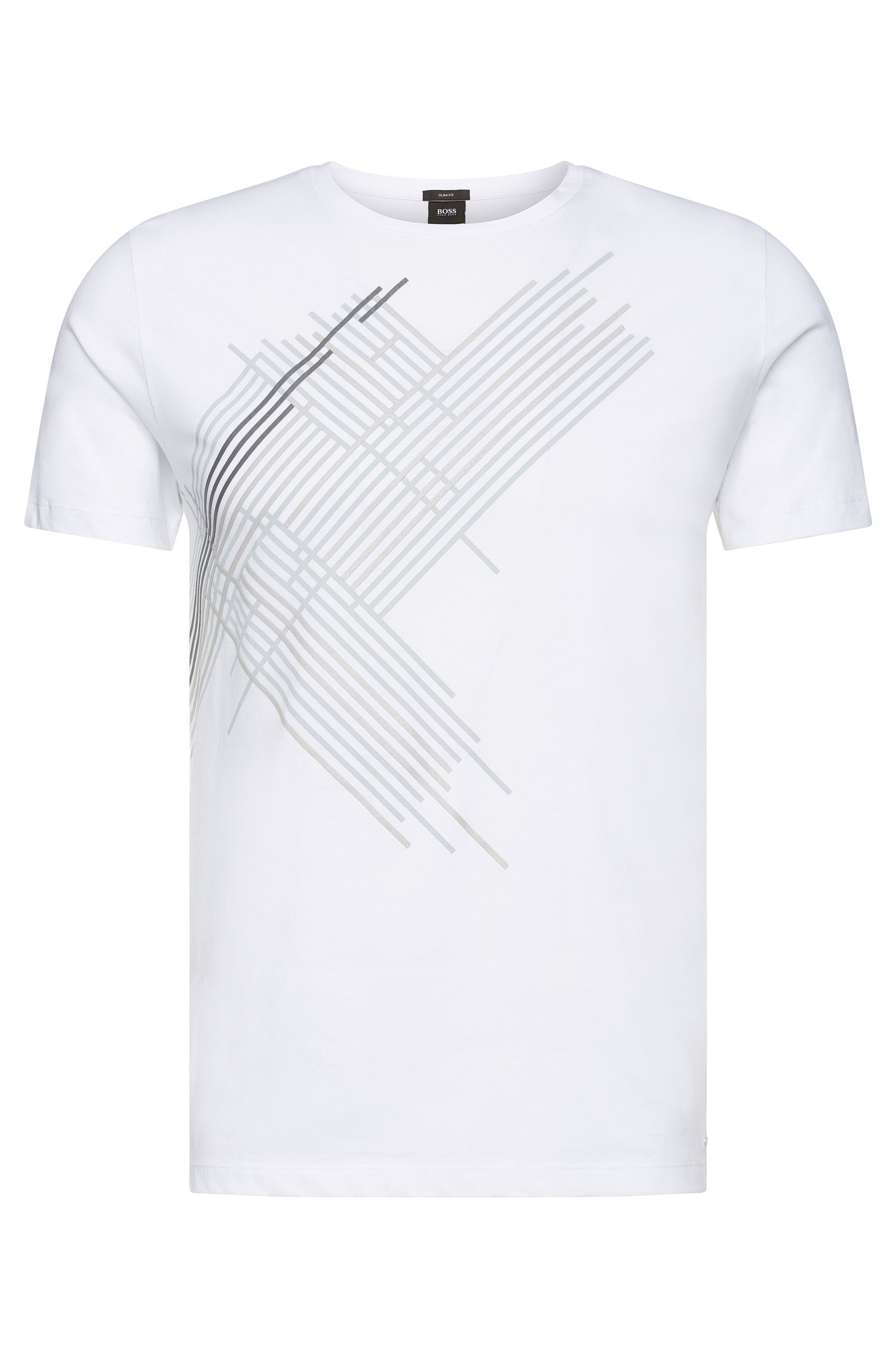 Printed slim-fit cotton T-shirt: 'Tessler 38'