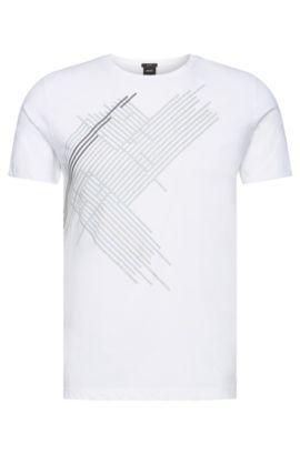 Printed slim-fit cotton T-shirt: 'Tessler 38', White