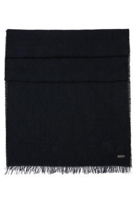 Écharpe à motif en coton: «Nathan», Noir