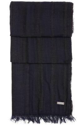 Los geweven sjaal van katoen: 'Noor', Zwart