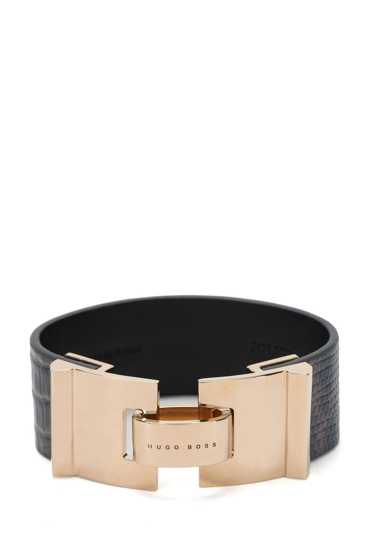 Armband van leer met hagedisprint: 'Grace Bracelet-LA'