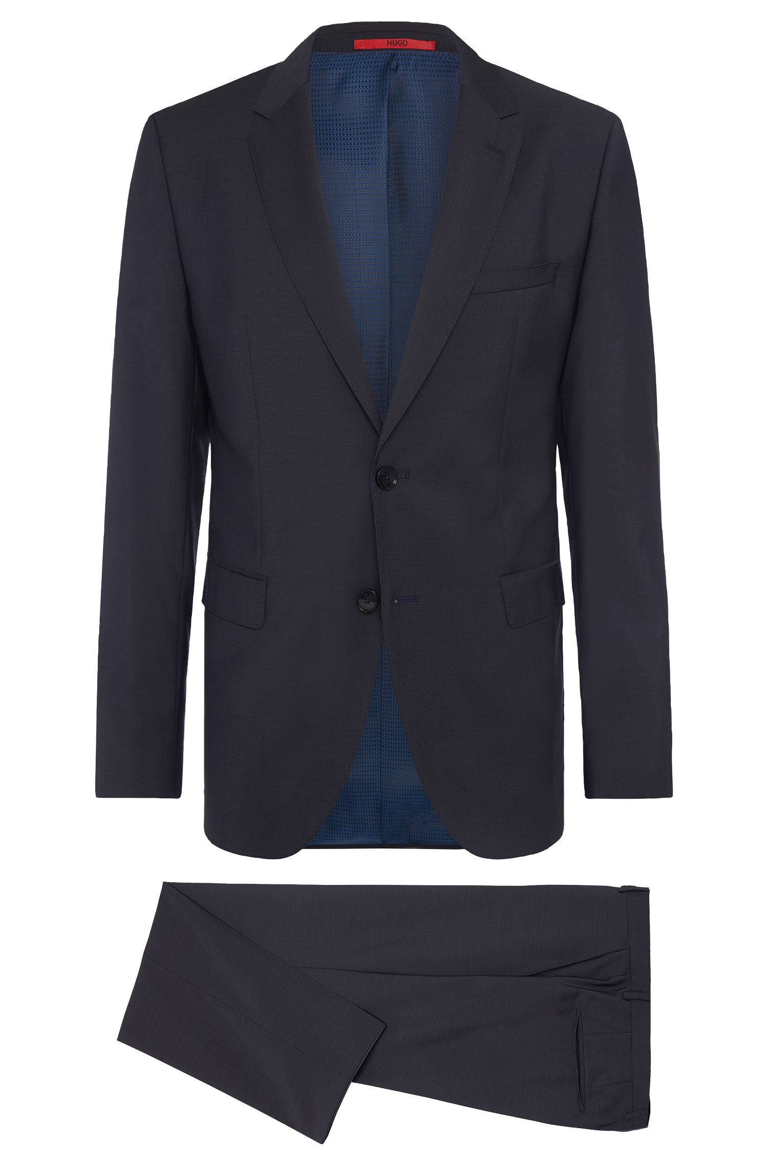 Mottled regular-fit suit in new wool: 'C-Jeys1/C-Shaft1'