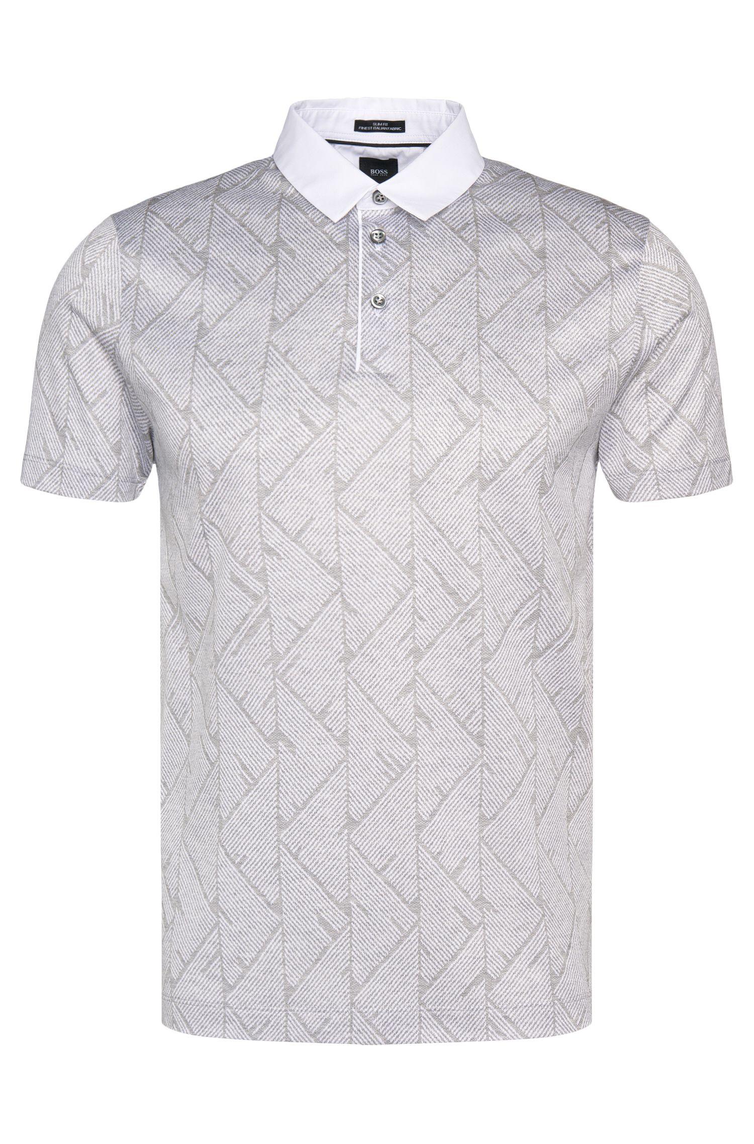 Polo slim fit Tailored en algodón con estampado integral: 'T-Pryde 25'