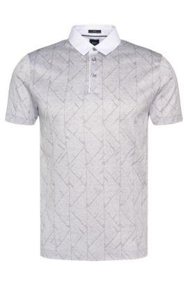 Polo slim fit Tailored en algodón con estampado integral: 'T-Pryde 25', Gris