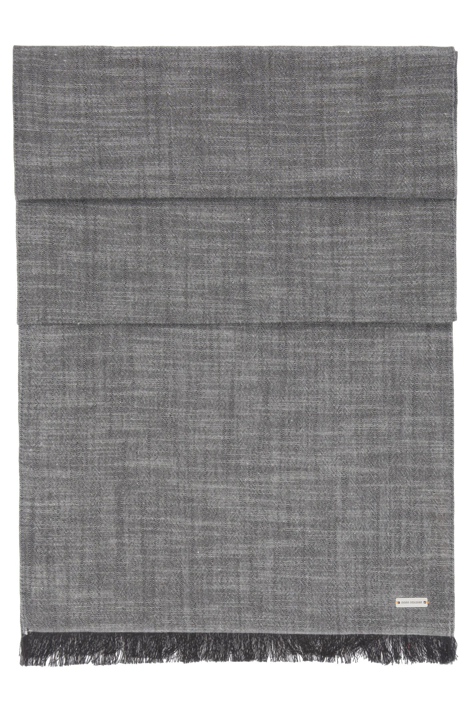 Écharpe en tissu lâche de coton uni: «Navid»