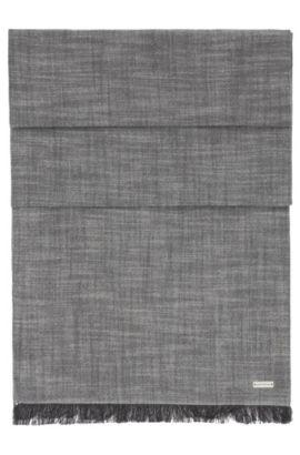 Écharpe en tissu lâche de coton uni: «Navid», Gris chiné