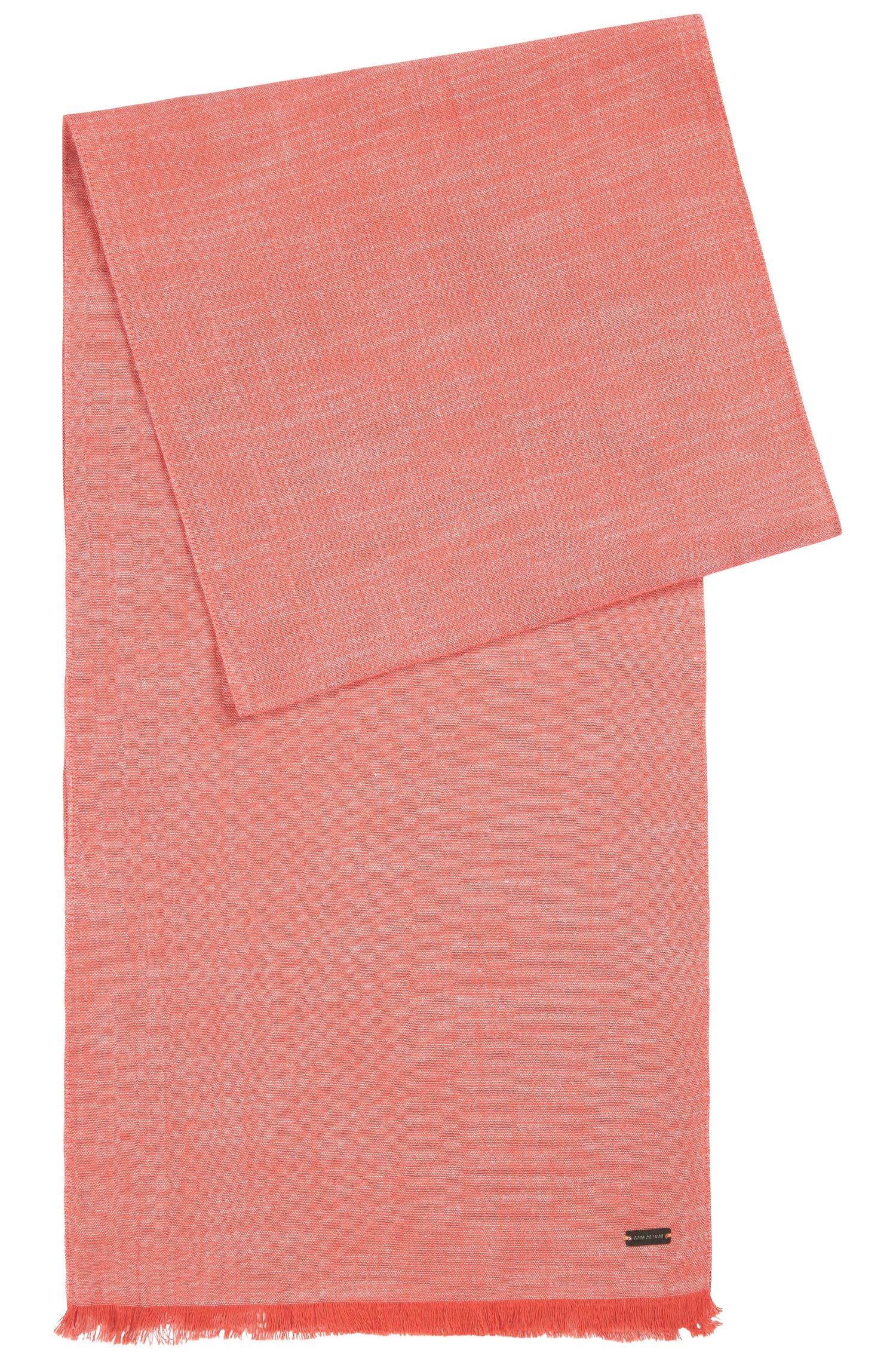 Loosely-woven, plain scarf in cotton: 'Navid'
