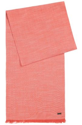 Loosely-woven, plain scarf in cotton: 'Navid', Red