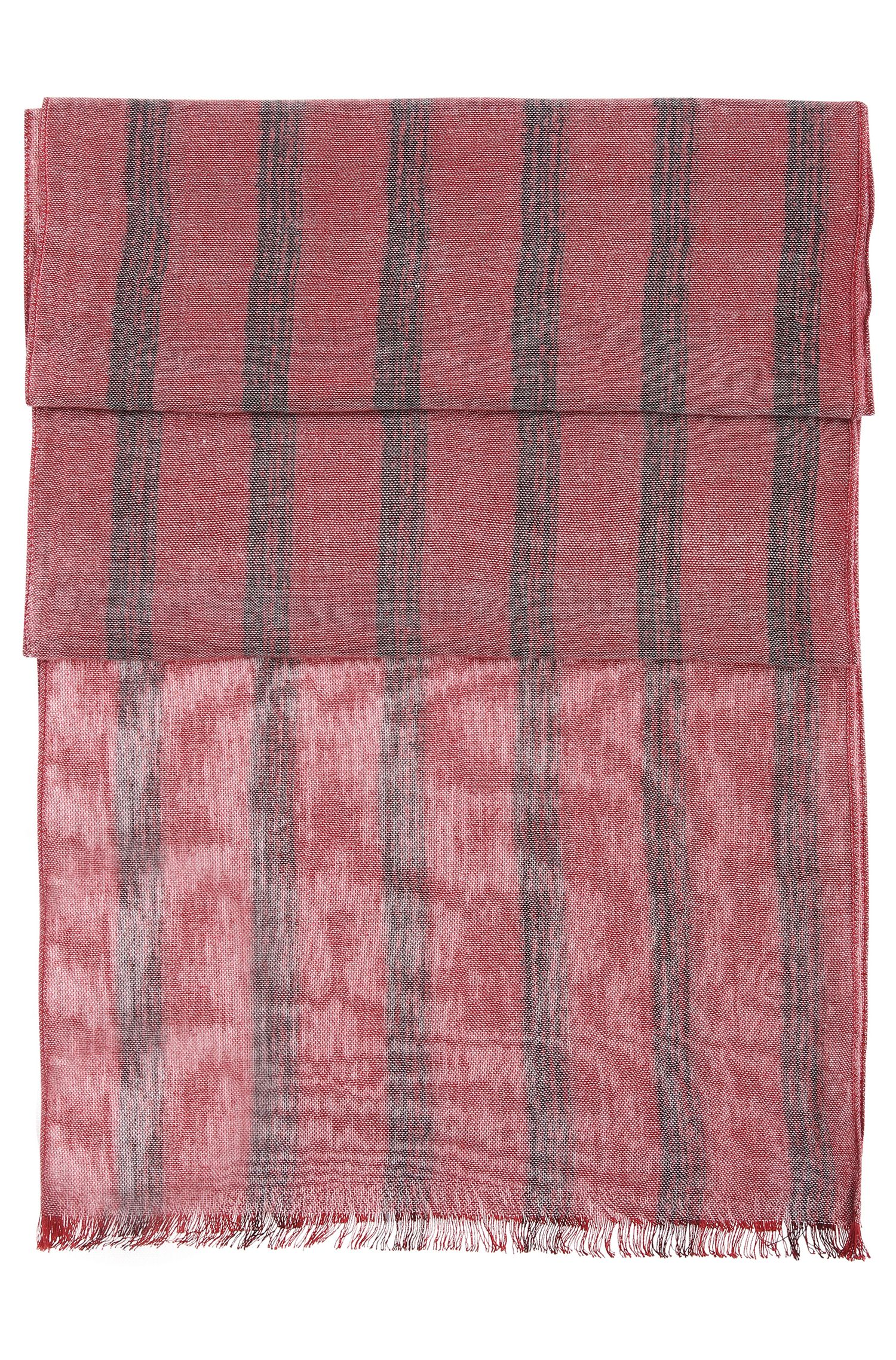 Gestreifter Schal aus Baumwoll-Mix: ´Nabril`
