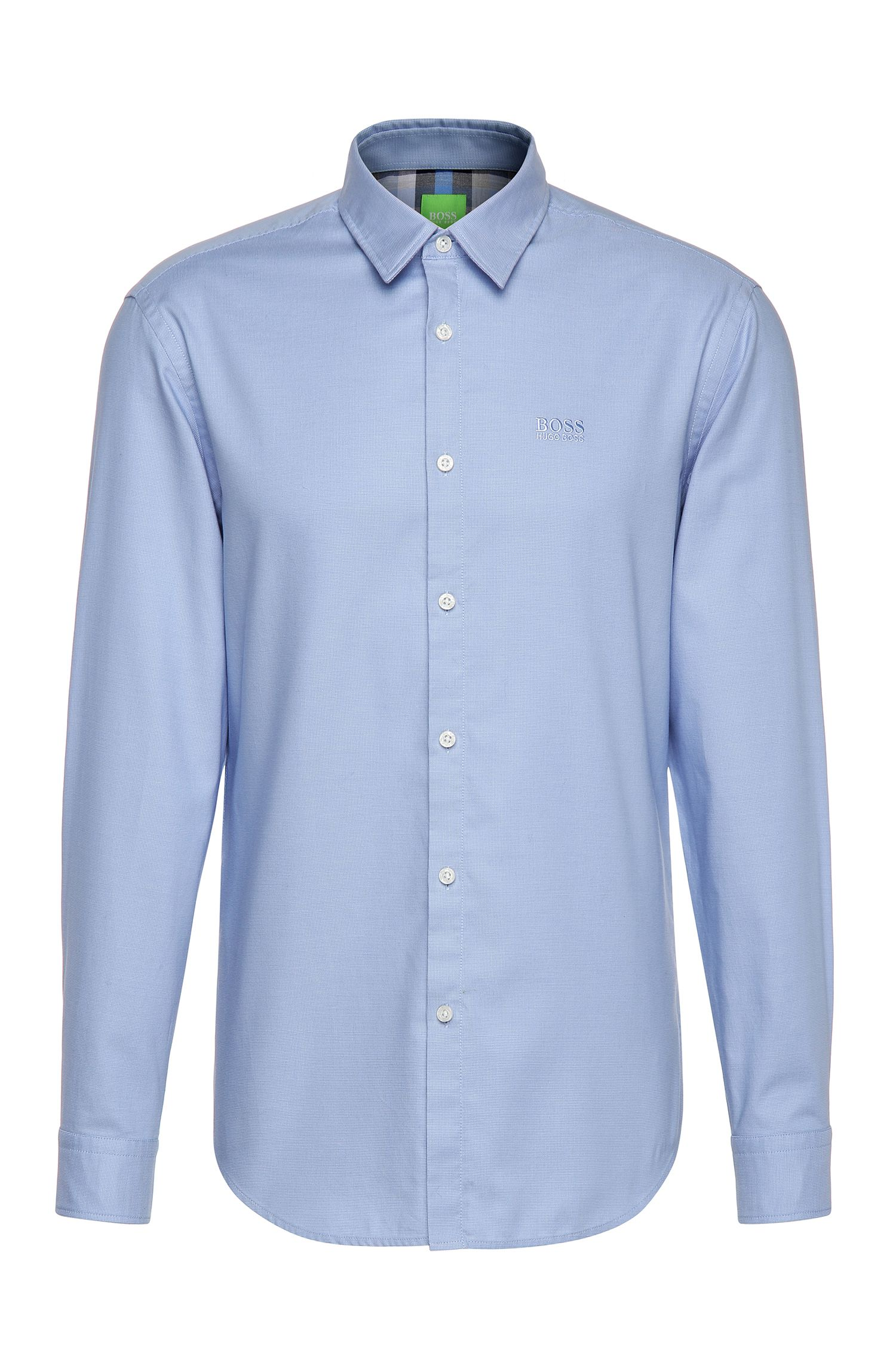 Regular-fit shirt in textured cotton: 'C-Buster'