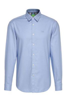 Chemise Regular Fit en coton texturé: «C-Buster», Bleu vif