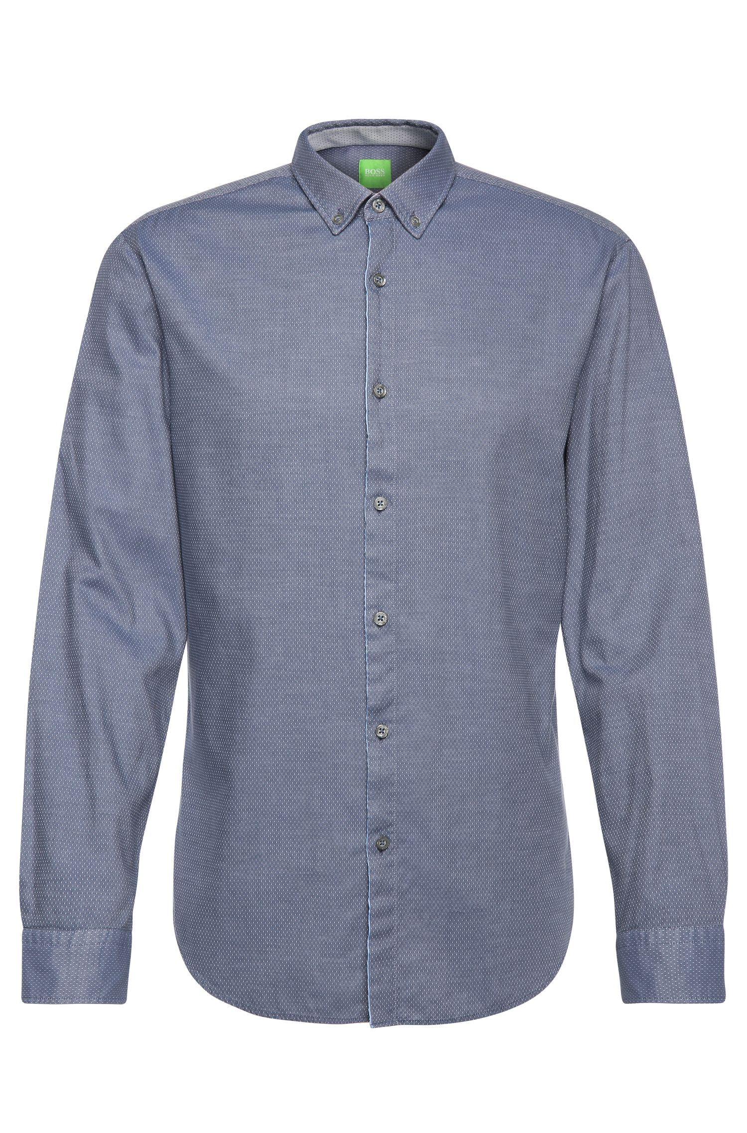 Slim-fit shirt in cotton with subtle pattern: 'C-Baltero'