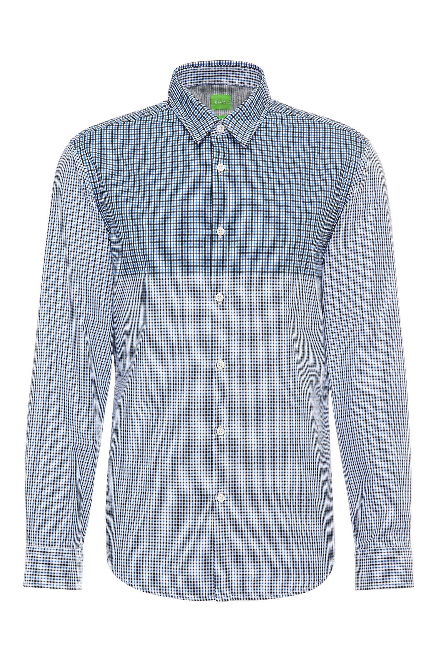 Camisa regular fit a cuadros en algodón: 'C-Briar'