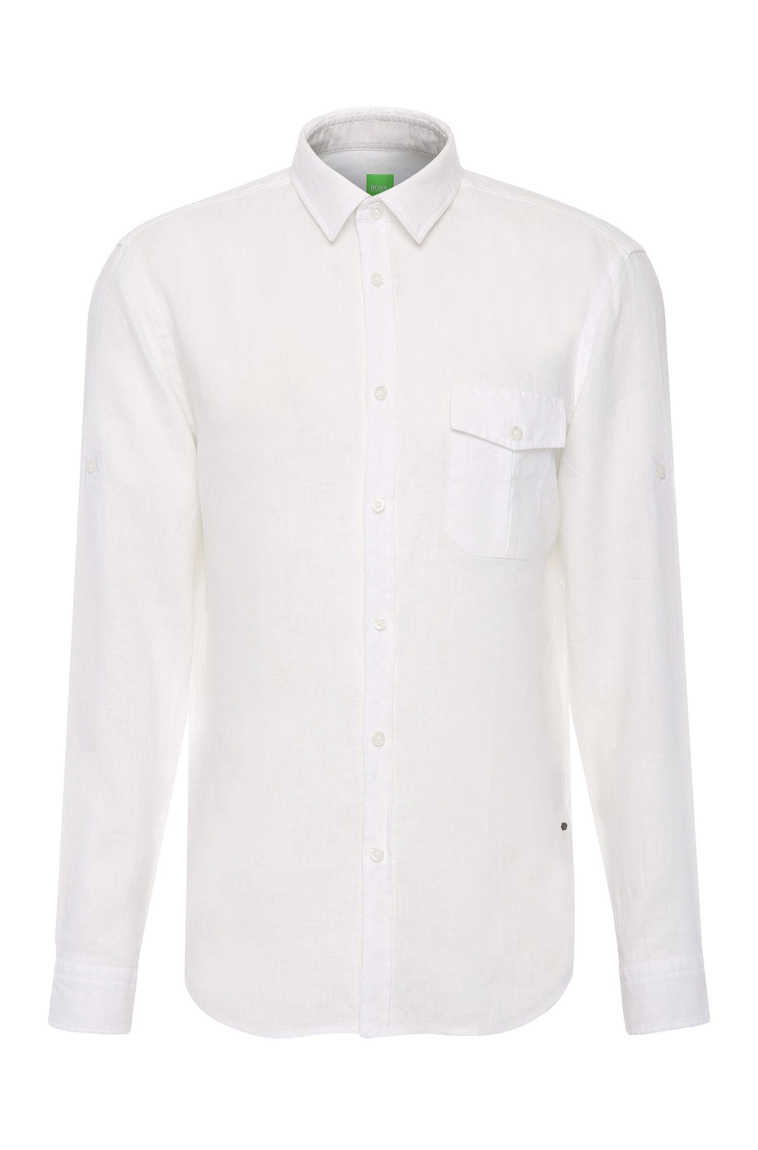 Regular-Fit Hemd aus Leinen: ´C-Brondo`
