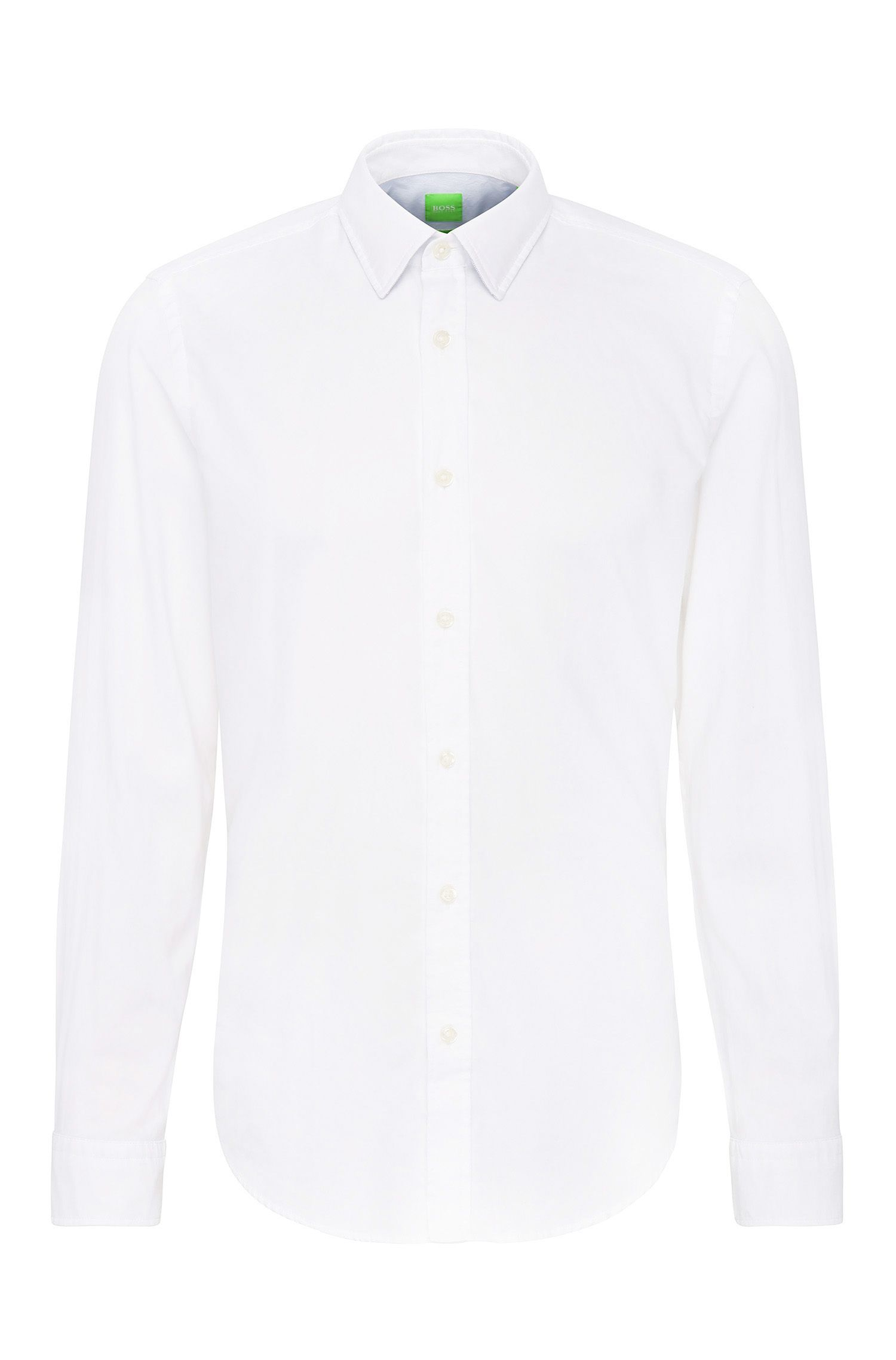 Relaxed-fit shirt in textured cotton: 'C-Lukas'