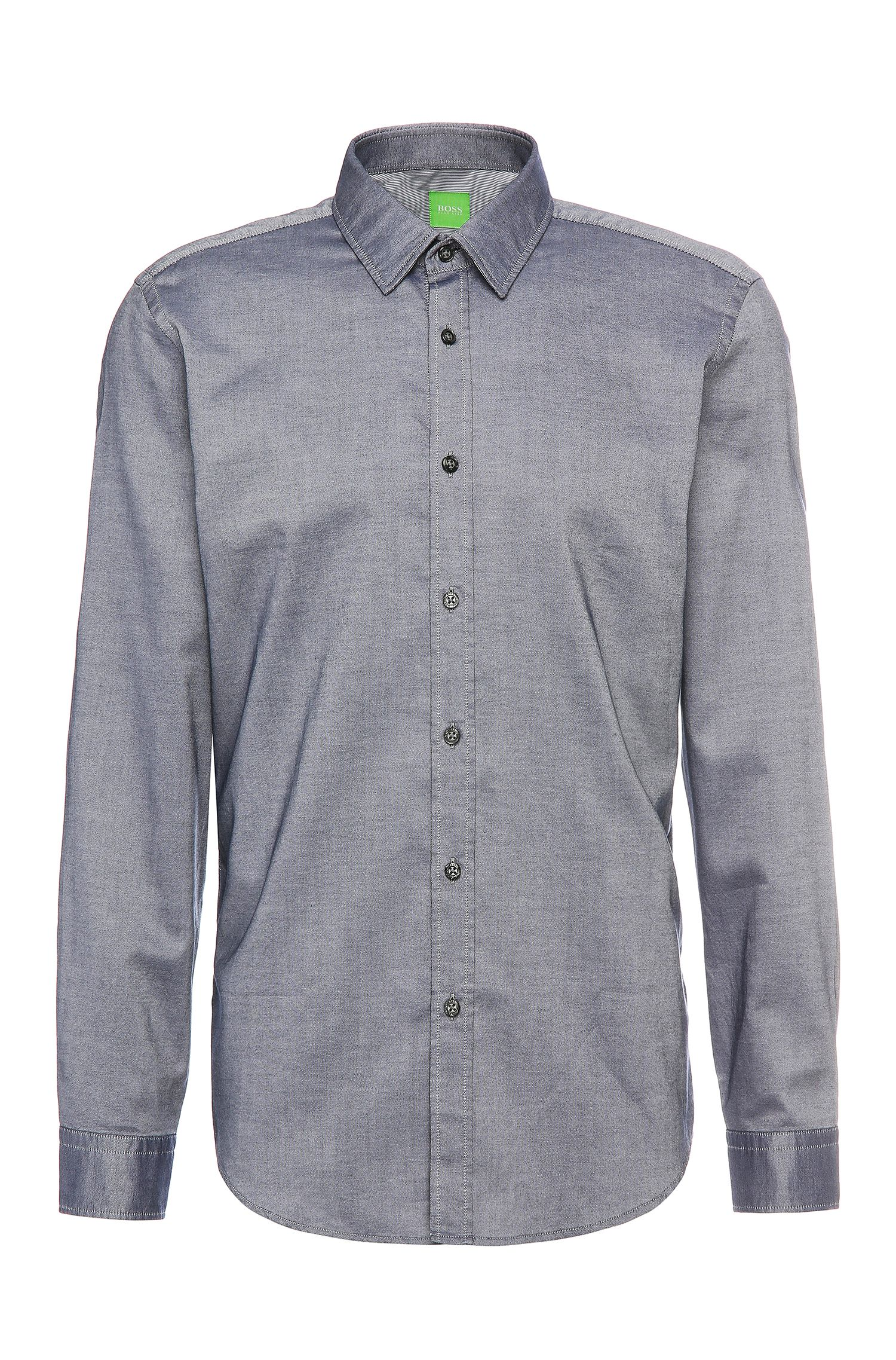Camisa relaxed fit en algodón con textura: 'C-Lukas'