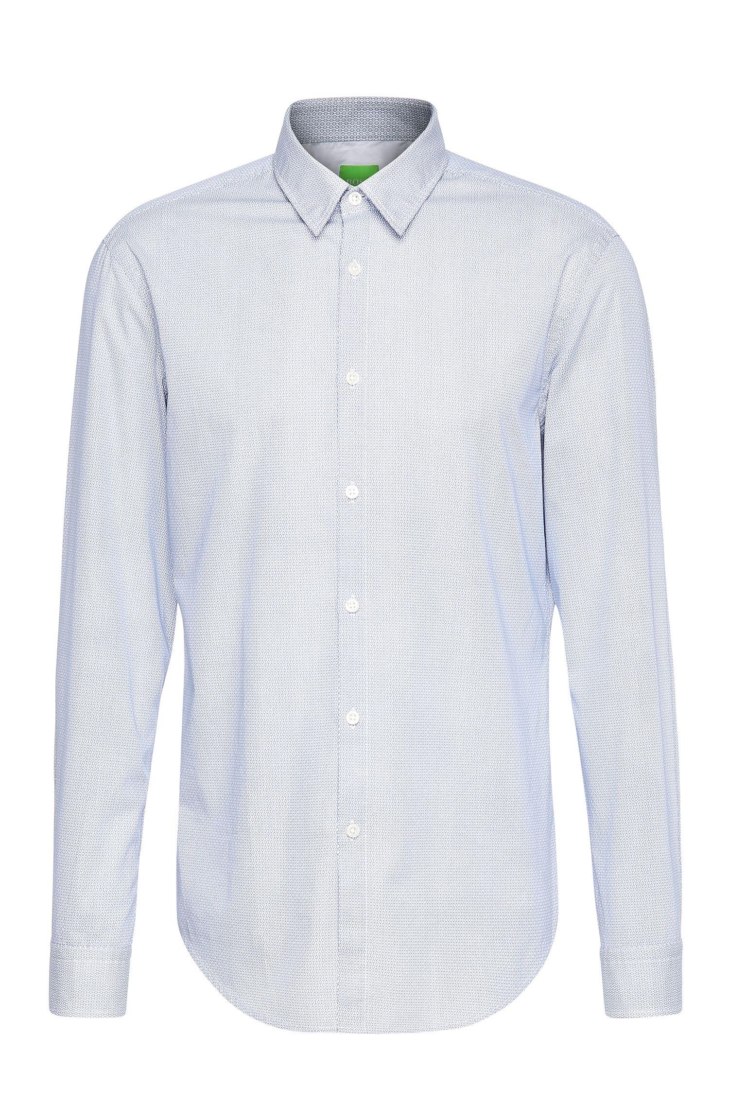 Camicia in cotone regular fit a disegni: 'C-Bustai'