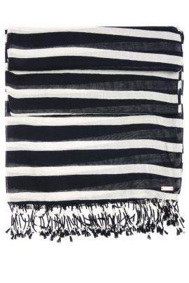 Gestreifter Schal aus Baumwolle mit Modal: ´Niris`, Gemustert