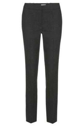 Pantalon Slim Fit en laine vierge stretch: «Tiluna1», Gris sombre