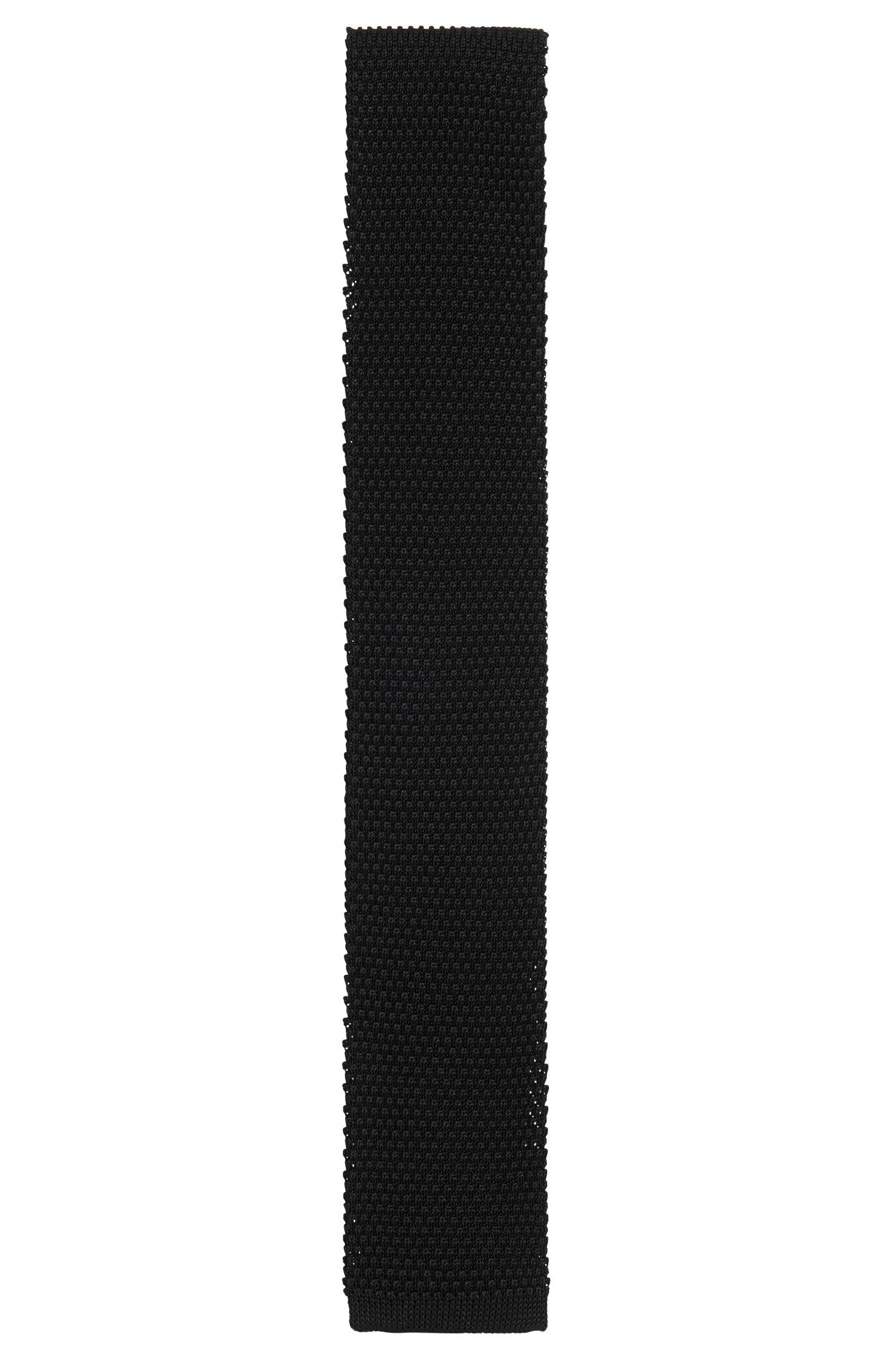 Strukturierte Tailored Krawatte aus reiner Seide: 'T-Tie 6 cm knitted'